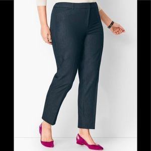 High-waist Tailored Ankle Pants